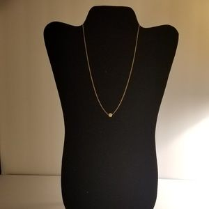 Costume Gold Necklace with Pearl